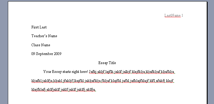 How To Write An Essays First Of All
